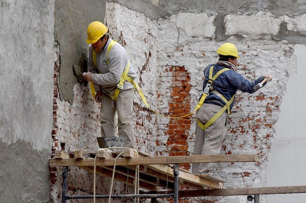 El empleo en la construcción mantuvo datos positivos en la primera mitad del año, señala el Ministerio de Trabajo. Crédito: Archivo El Litoral / Guillermo Di Salvatore