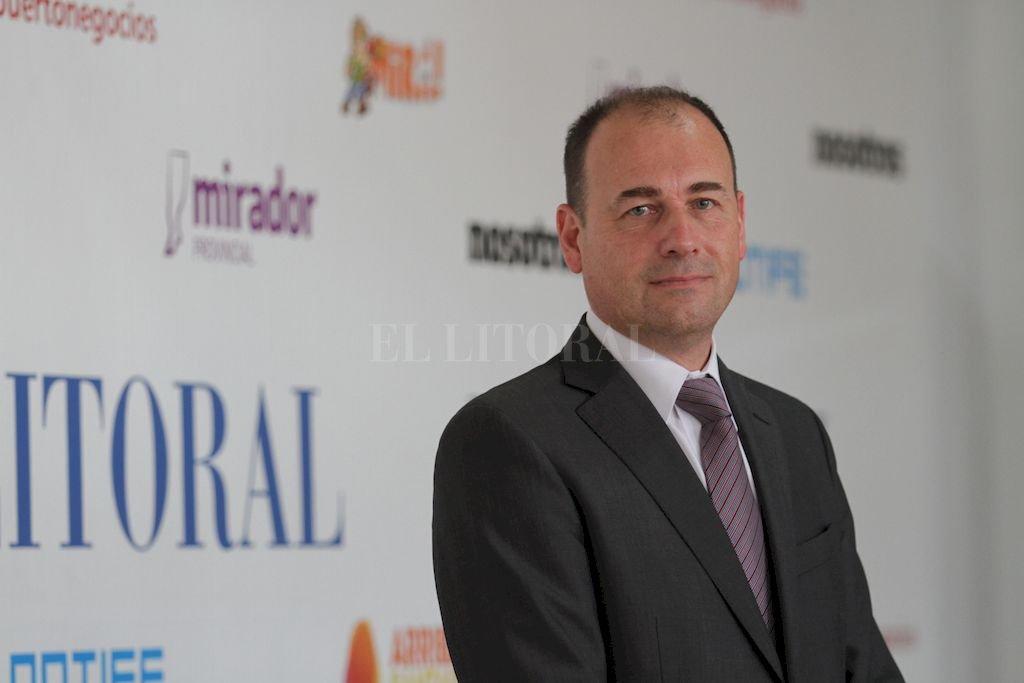 Julio Yódice, presidente del Colegio de Ciencias Económicas de Santa Fe. Crédito: Pablo Aguirre