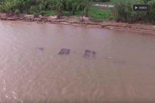 Video: así se ve la malla protectora del túnel subfluvial desde el aire