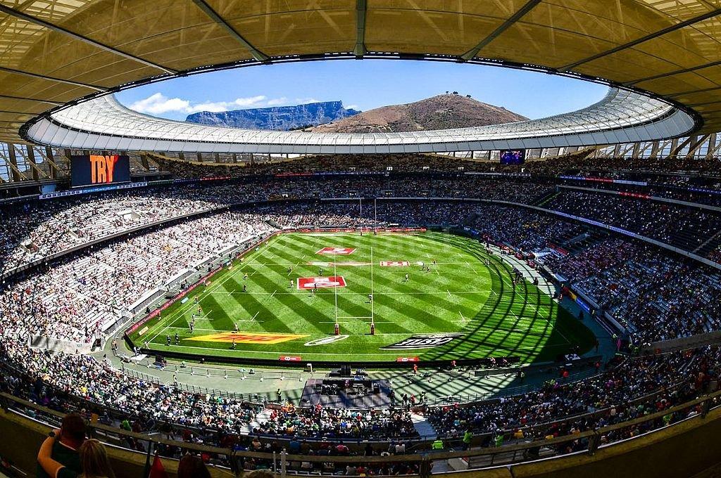 El estadio Green Point de Ciudad del Cabo, escenario donde se disputarán los partidos de los mundiales femenino y masculino. <strong>Foto:</strong> @Springboks