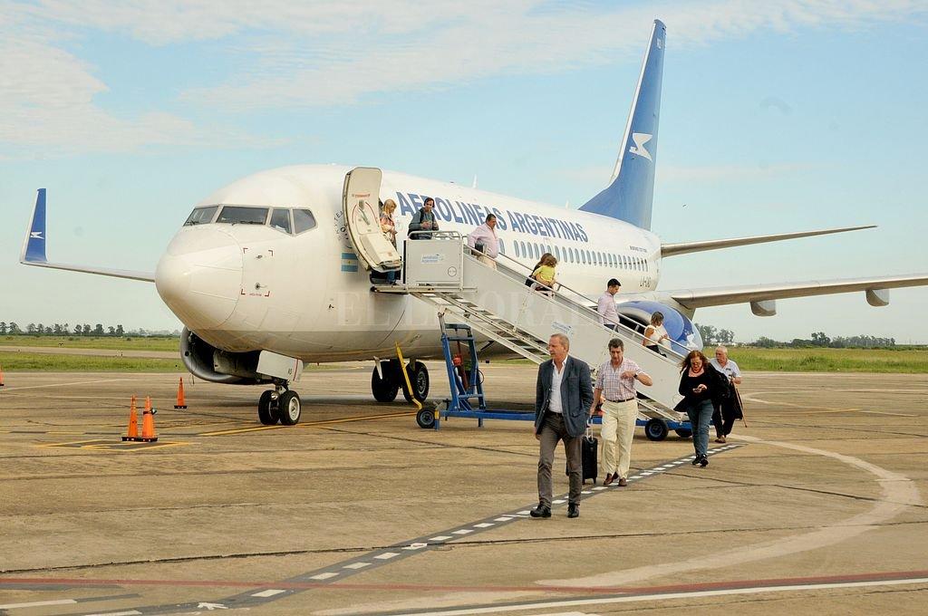 Uno menos. Desde el viernes, Aerolíneas Argentinas resta uno de sus servicios a Santa Fe.  Crédito: Archivo El Litoral / Guillermo Di Salvatore