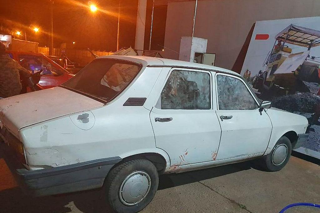 El auto que realizó la persecución con la policía. Crédito: Gentileza