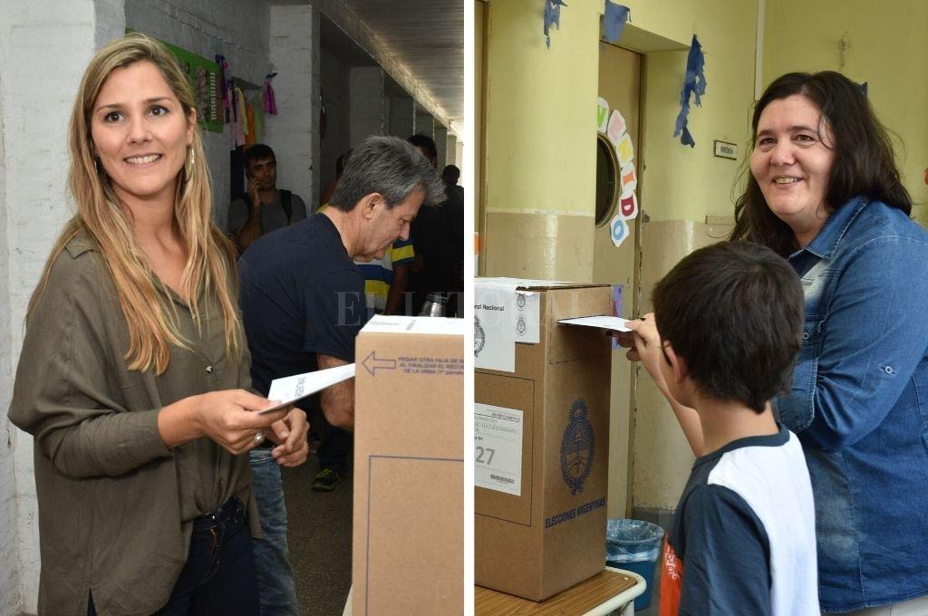 Ximena García y Alejandra Obeid, diputadas nacionales electas.   <strong>Foto:</strong> Flavio Raina
