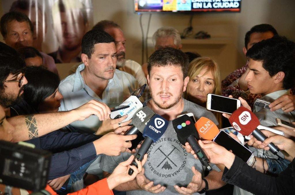 Federico Angenili, en la sede del Pro en Rosario. Crédito: Agencia