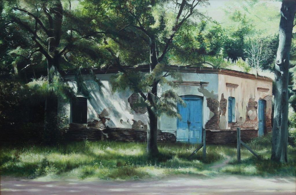 "Luis Gervasoni. ""Antigua casa en Gorchs"". Crédito: Gentileza Museo López Claro"