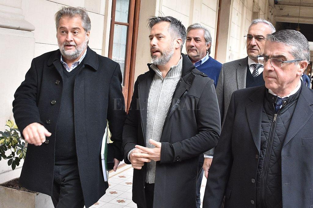 Mirabella, Busatto, Michlig, Calvo y Traferri. <strong>Foto:</strong> El Litoral