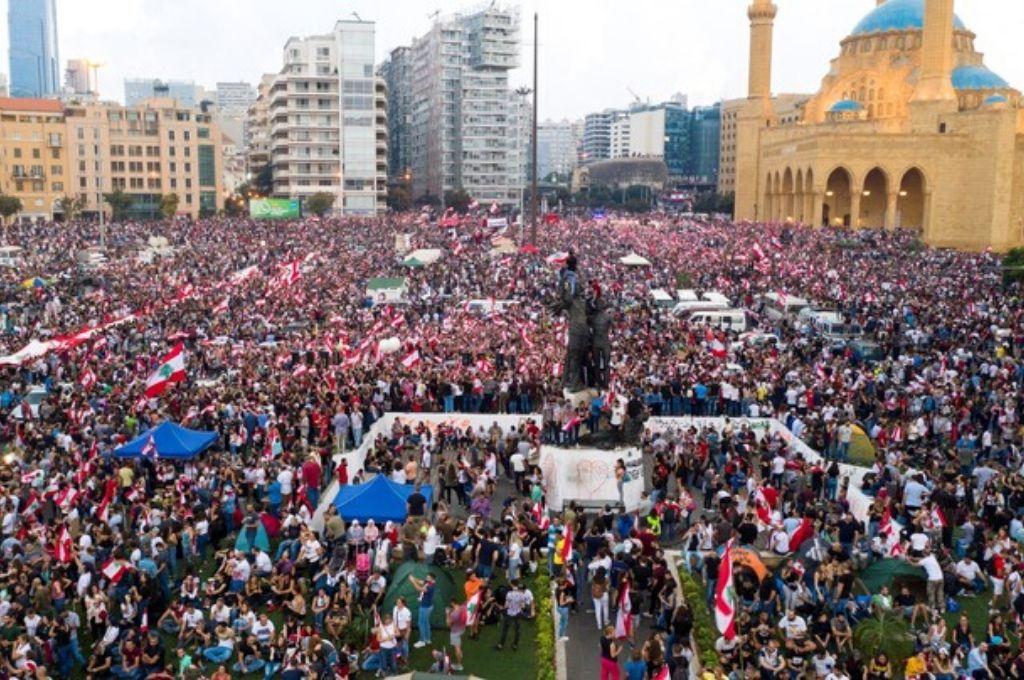 La ciudad de Beirut este lunes. <strong>Foto:</strong> Gentileza