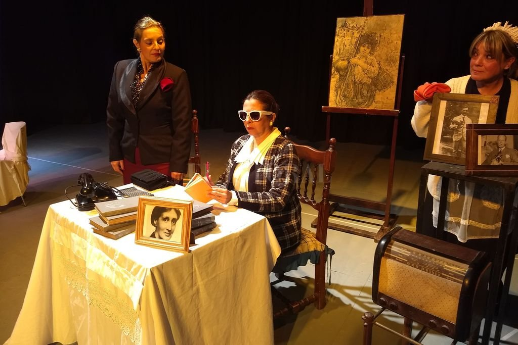 Eva Perón y Victoria Ocampo confluyen, cada una con sus ideas, en la trama de la obra.  Crédito: Gentileza producción