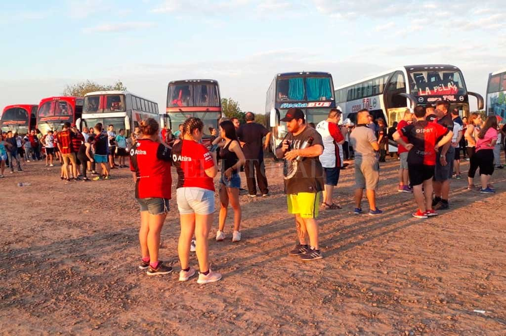 El paso fronterizo de Clorinda, este sábado por la mañana <strong>Foto:</strong> El Litoral