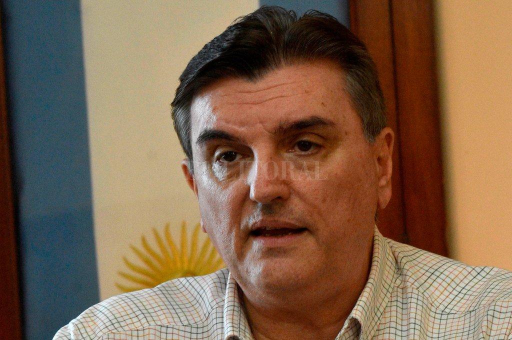 Oscar Pintos, presidente de la Asociación Federal de Entes Reguladores de Agua y Saneamiento, e integrante del Directorio del Enress. <strong>Foto:</strong> Mauricio Garín.