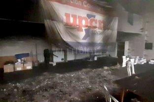 Se incendió una delegación de UPCN y denuncian que fue intencional -