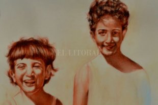 """Retratos de Familia"" - Hermanas"", obra de María Virginia Farah. -"