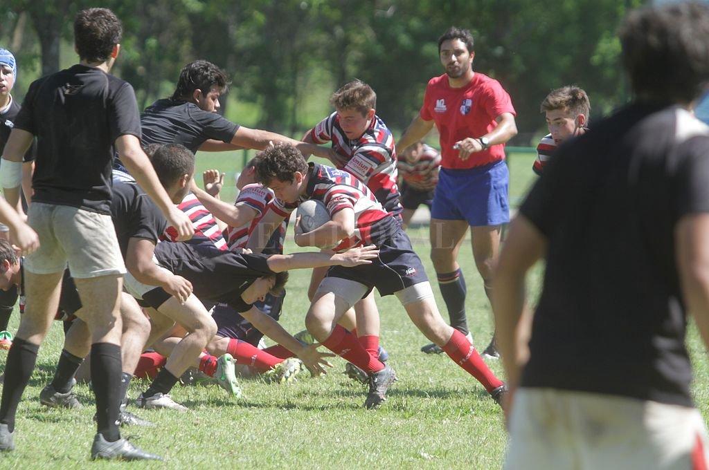 Competencia nacional. Los chicos de Menores de 16 y 17 años vivirán dos jornadas de mucho rugby entre sábado y domingo.  Crédito: Pablo Aguirre