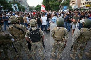 El Ejército libanés mató a tiros a un hombre durante las protestas antigubernamentales