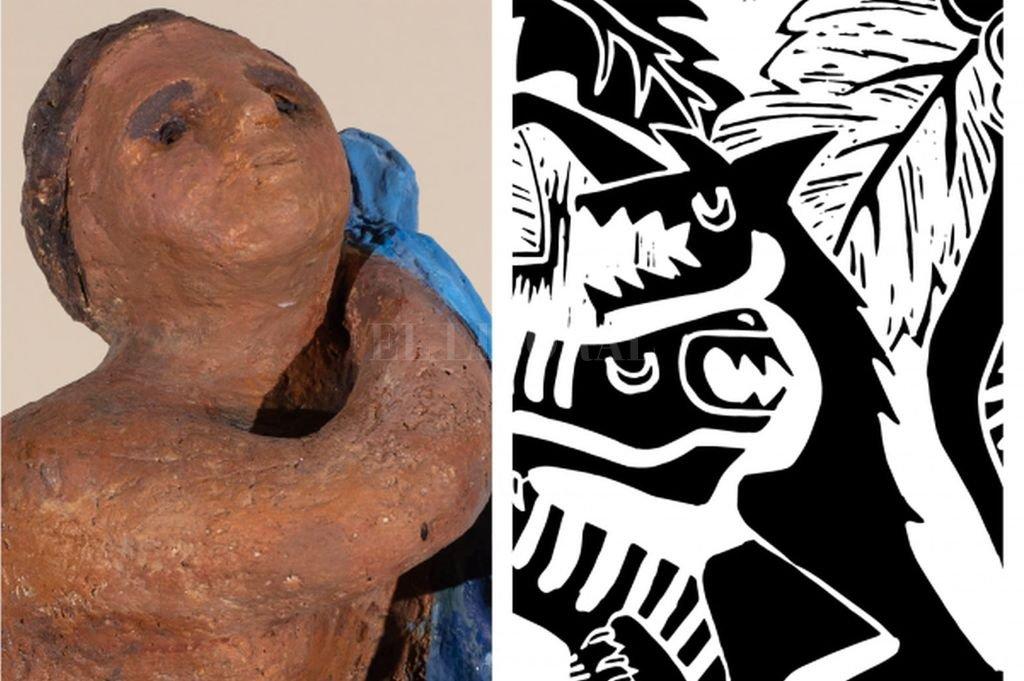 Esta exhibición permite acceder a la singular exploración que las artistas realizan en el marco de la cerámica y el grabado. Crédito: Gentileza CAPSF