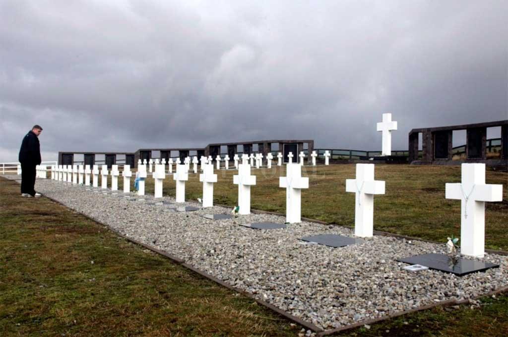 El cementerio de Darwin, en Malvinas Crédito: Gentileza