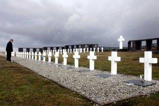 Identifican al soldado 115 caído en Malvinas  - El cementerio de Darwin, en Malvinas -