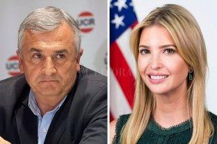 """Acusan a Gerardo Morales de """"planificar"""" con la hija de Trump el golpe de Estado en Bolivia - Morales e Ivanka Trump."""