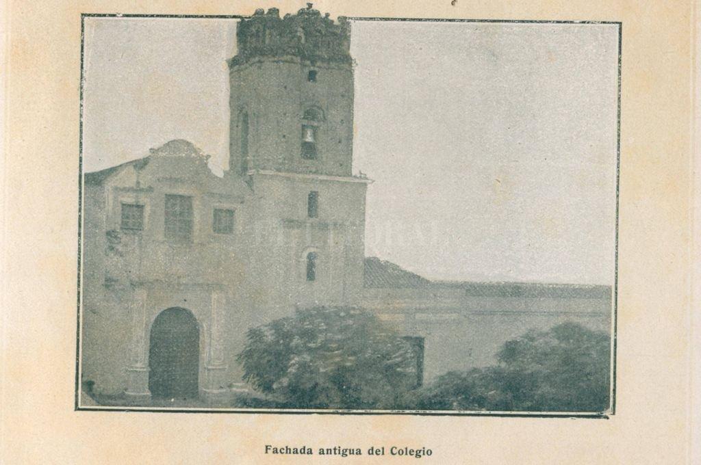 Iglesia y Colegio de la Inmaculada Concepción en 1863. <strong>Foto:</strong> Archivo El Litoral
