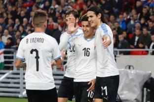 Uruguay, próximo rival de Argentina, venció a Hungría en un amistoso