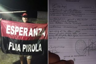 """Insólito: Le puso """"Burián"""" de segundo nombre a su hijo - gentileza Radio Gol"""