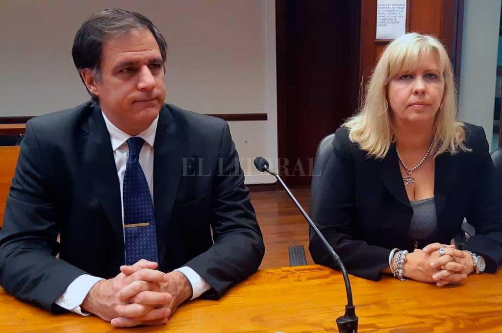 El fiscal Regional Carlos Arietti acompañó este martes a la fiscal Rosana Marcolín, que está a cargo de la investigación. Crédito: Prensa MPA