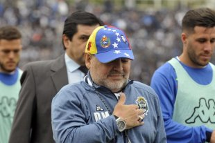 El mensaje de Maradona tras renunciar al Lobo -  -