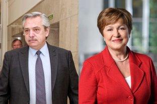 Alberto Fernández habló por teléfono con la directora del FMI Kristalina Georgieva -  -