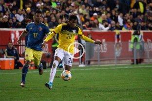 Ecuador perdió 1 a 0 ante Colombia