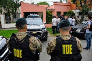 Policías detenidos sospechados de integrar la banda de Esteban Alvarado