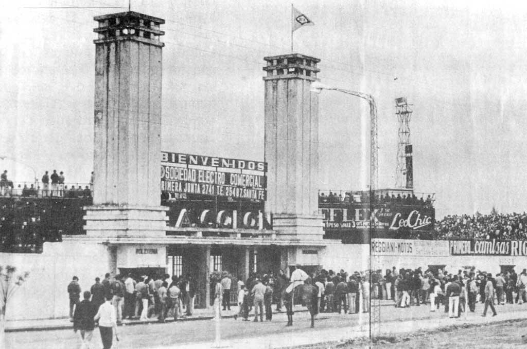 Así lucía el ingreso a la cancha de Colón en 1966 <strong>Foto:</strong> Archivo El Litoral