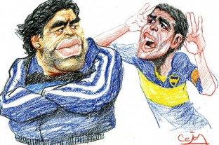 """Maradona dijo que Riquelme """"no puede venderse al mejor postor"""""""