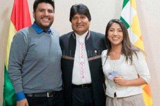 Llegan a Argentina los hijos de Evo Morales