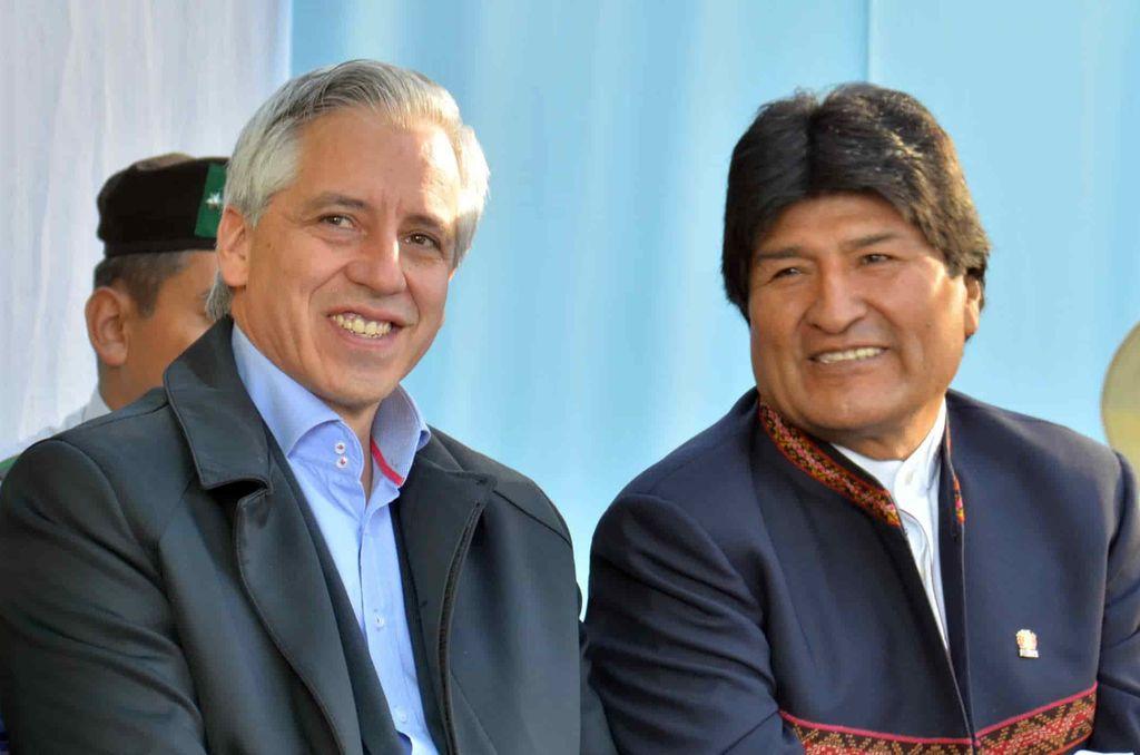 Álvaro García Linera con Evo Morales <strong>Foto:</strong> Archivo