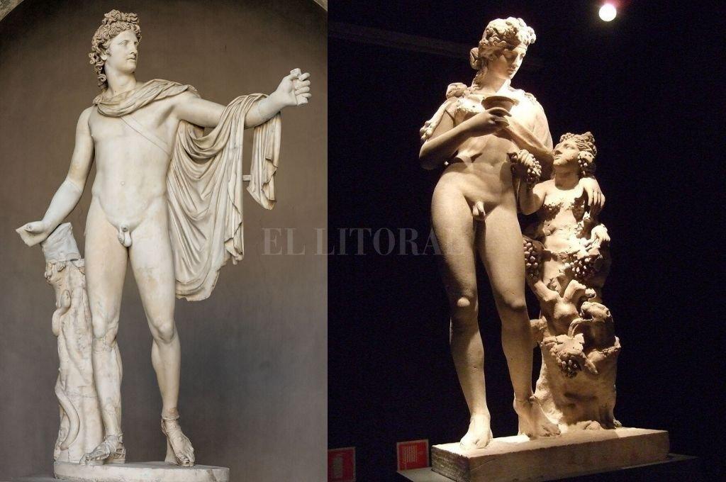 Apolo y Dionisos, dioses griegos. Crédito: Archivo El Litoral