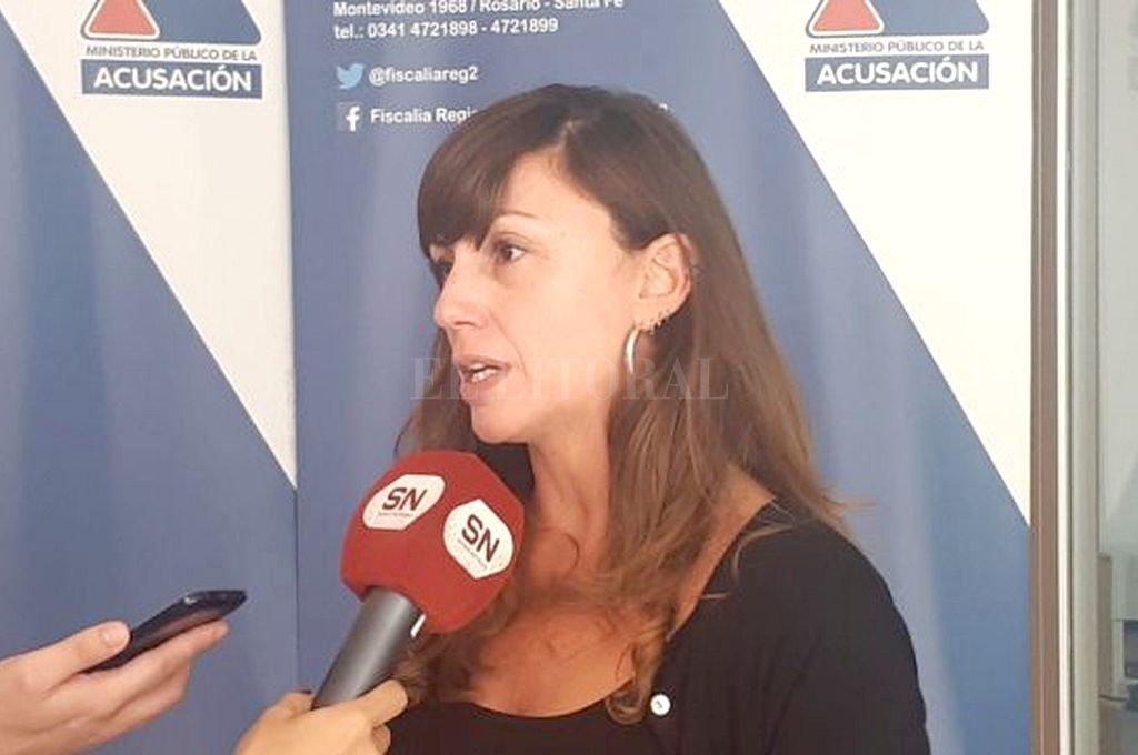 La fiscal de la Unidad de Violencia de Género, Luciana Valarella. <strong>Foto:</strong> Captura digital