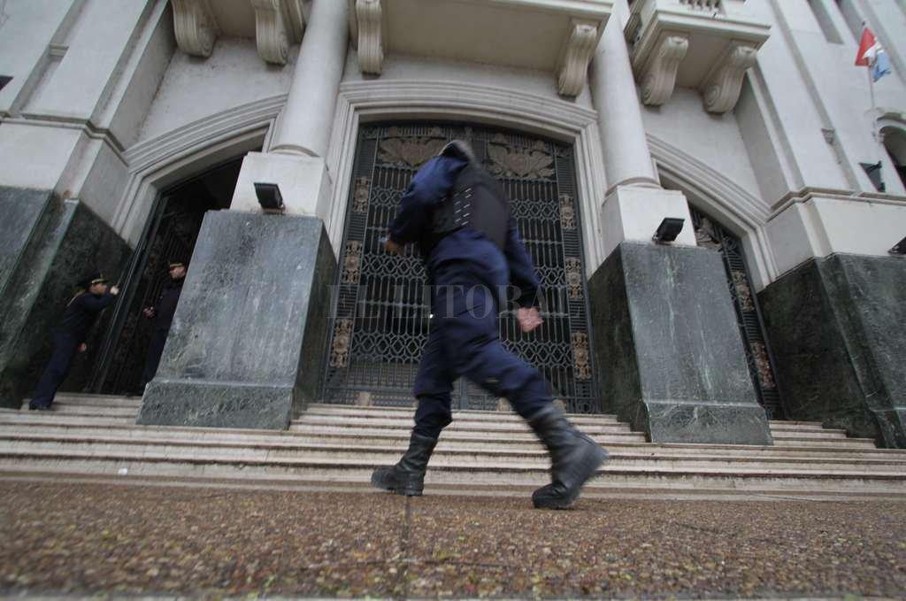 La marcha culmina en Plaza 25 de Mayo, frente a los Tribunales de Justicia. <strong>Foto:</strong> Archivo