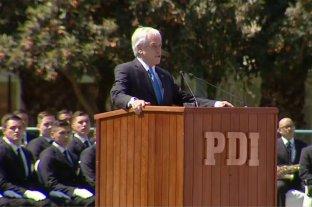 """Piñera llamó a policía chilena a enfrentar a un """"Enemigo poderoso e implacable"""""""