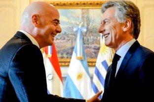 Macri se reunirá con Infantino una semana antes de dejar de ser Presidente