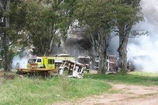 Se incendió un depósito de unidades de la ex Monticas