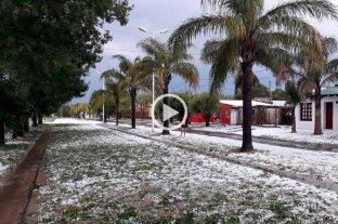 Video: impactante granizada en la localidad entrerriana de Santa Elena