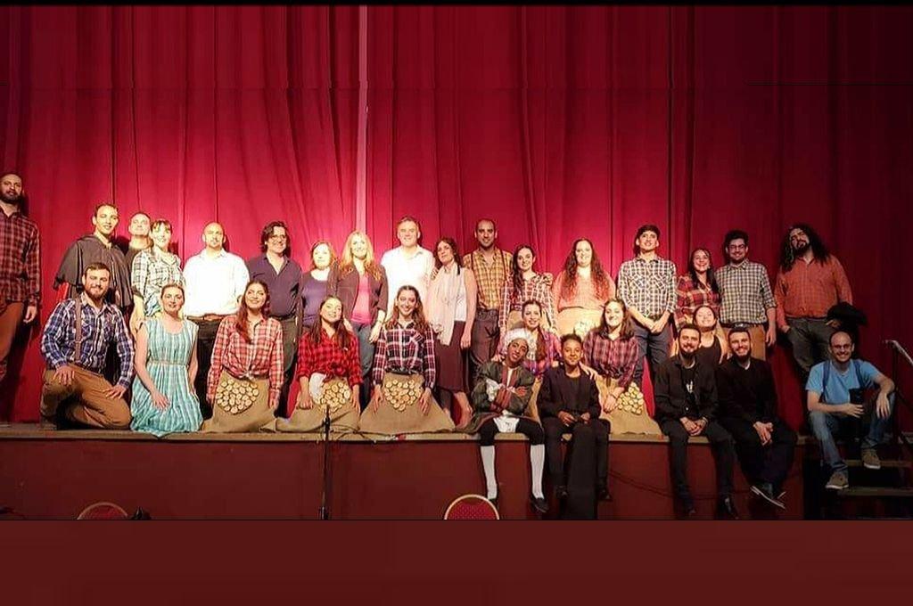 El elenco de la ópera de Mozart, en la última función. Crédito: Gentileza SFL