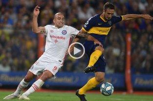 Boca y Argentinos empataron 1 a 1 y mantienen la punta