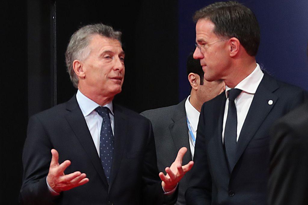 El presidente Mauricio Macri conversó con el primer ministro de los Países Bajos, Mark Rutte, en el marco de la XXV Conferencia de Naciones Unidas sobre el Cambio Climático  <strong>Foto:</strong> NA