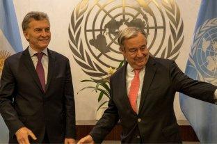Macri se reunió con el titular de la ONU en Madrid