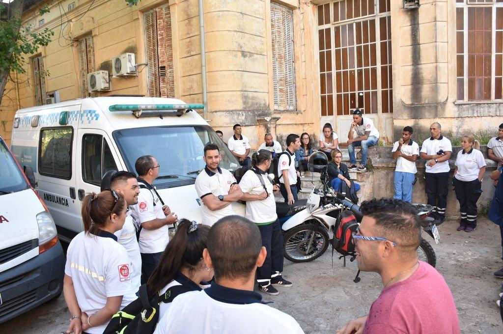 Asamblea de trabajadores del Sies 107. <strong>Foto:</strong> Manuel Fabatía