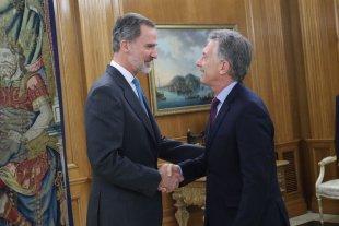 Mauricio Macri se reunió con el Rey Felipe VI de España