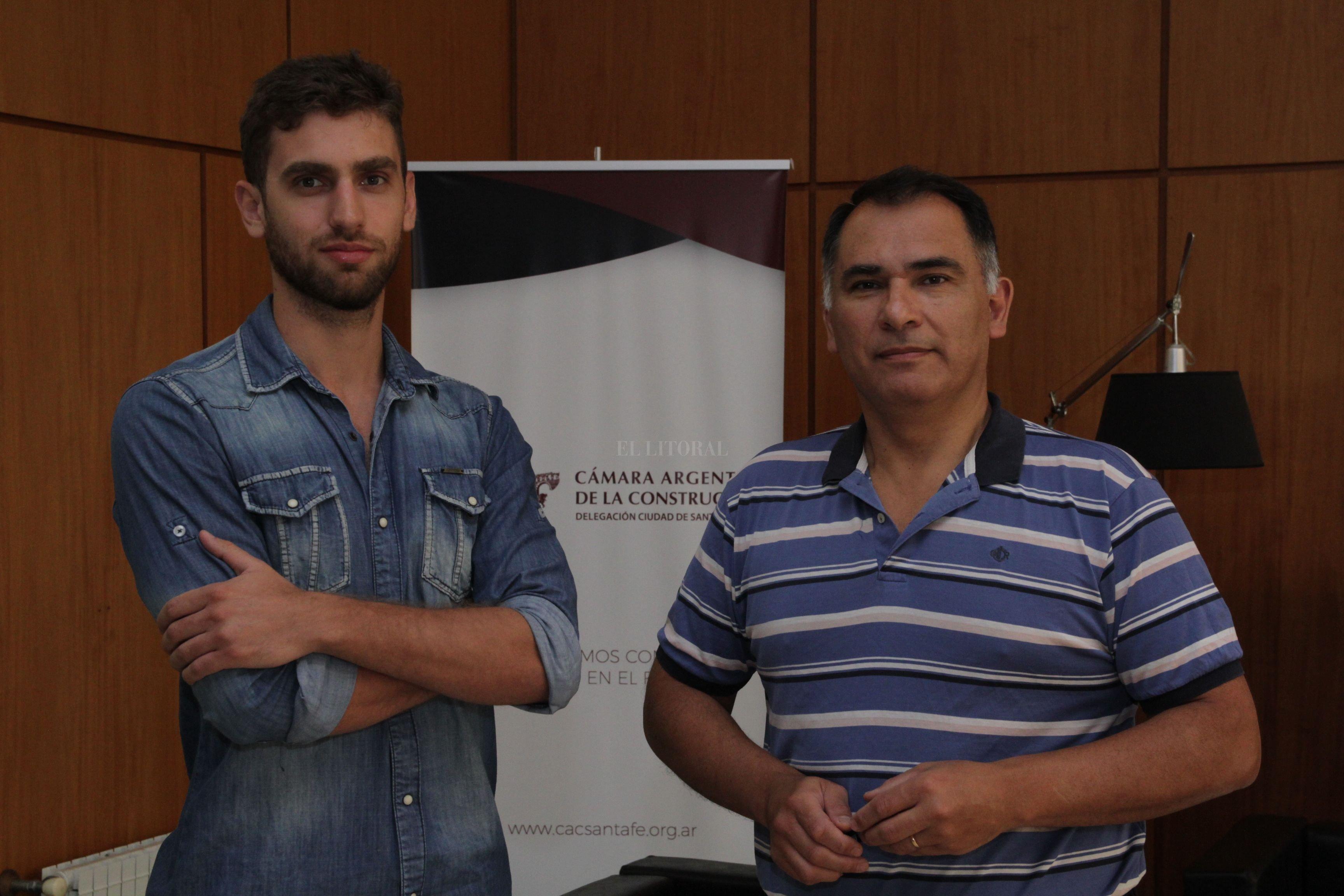 José Gatti, responsable del Área de Capacitación, y Fabio Arredondo, gerente de la Delegación <strong>Foto:</strong> Mauricio Garín