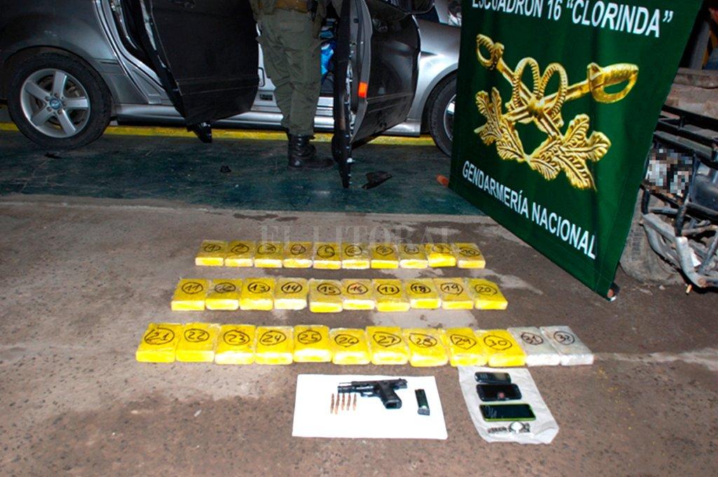 El secuestro de 32,5 kilos de cocaína en Clorinda, en diciembre de 2015, fue el punto de inflexión, desde el cual se inicia la investigación. Crédito: Archivo.
