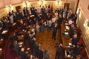 Los senadores del PJ siguen en un bloque, pero ya votaron divididos